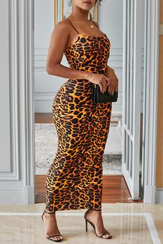 Buy directly from the world's most awesome indie brands. Or open a free online store. Leopard Print Outfits, Girl Outfits, Fashion Outfits, Dress Outfits, Spaghetti Strap Dresses, Spaghetti Straps, Daily Dress, Fashion 2020, Women's Fashion