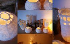 I LOVE white felt!!  From the blogspot rabenfilz, Germany