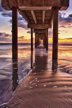 Under St Augustine Pier in HDR by Glenn Taylor, via Flickr