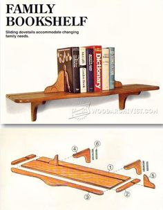 Family Bookshelf Plans - Furniture Plans and Projects | WoodArchivist.com