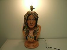 Apsit Bros. of Calif C 81 Native American Indian Lamp