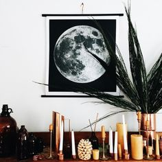 johnnaholmgren:  Moon silkscreen from Chicago. I've been eyeing this up for an embarrassingly long amount of time and it was the sweetest surprise ever from Max for Christmas.  I learned much of this obsession from my incredible friend @humphreykeegan. The moon is the best, I am in love.