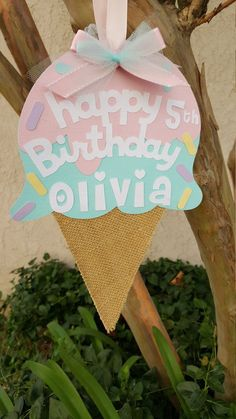 Ice Cream Door sign, Sweet Shop Party, Ice cream Birthday Welcome your guests to your party with this adorable ice cream door sign or add an extra touch to your decor with some centerpiece picks 4th Birthday Parties, 3rd Birthday, Birthday Ideas, Birthday Door, Birthday Banners, Frozen Birthday, Princess Birthday, Birthday Invitations, Happy Birthday