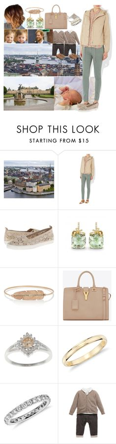 """""""Paying a private visit to """"Sammy the Fish - Stockholm"""" with Harry, Jonathan and Johannes and afterwards visitng Carl Philip, Sofia and their newborn son Alexander at Drottningholm Palace"""" by charlottedebora ❤ liked on Polyvore featuring Hobbs, ESPRIT, Daniela Villegas, Yves Saint Laurent and Blue Nile"""