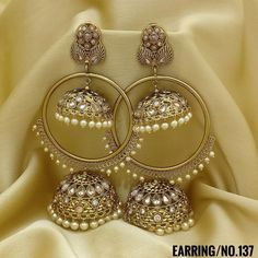 Rama Creations Manufacturer & Wholesalers of Imitation Bridal Jewellery in India. Indian Jewelry Earrings, Indian Jewelry Sets, Silver Jewellery Indian, Jewelry Design Earrings, Ear Jewelry, Bridal Jewelry, Indian Accessories, Antique Earrings, Girls Earrings