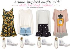 Ariana Grande's style :) Credit to:arianagrandestyle on tumblr