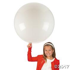 Jumbo White 36 Latex Balloon - OrientalTrading.com