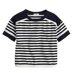 Girls' stripe yoke tee