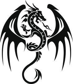 Dibujos de dragones para tatuajes - Cuerpo y Arte                                                                                                                                                     Más
