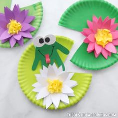 Paper Plate Crafts 391461392613221300 - Click below to GET MORE >>>> christmas paper craft diy paper flower centerpiece wrap paper crafts quilled paper art Source by janniecostello Toddler Crafts, Preschool Crafts, Diy Crafts For Kids, Easy Crafts, Art For Kids, Kids Diy, Decor Crafts, Craft Ideas, Frogs Preschool