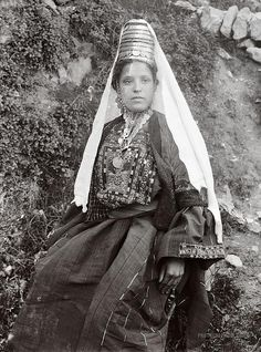 Woman with Traditional Costume: Bethlehem, Palestine 1898.