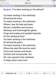 The rainforest rainforest song layering and songs rainforest song fandeluxe Image collections