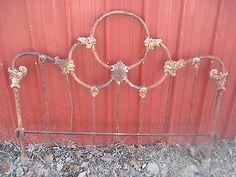 Vintage Victorian Antique Cast Iron Headboard Bed Cast Iron Shabby Ornate Heavy | eBay