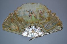 Fine Antique French mother of pearl fan, approx 24cm H