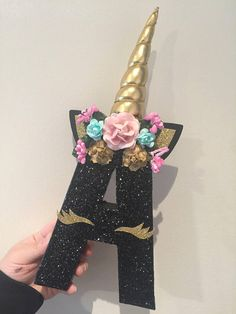 This listing is for only Unicorn Letters that include the padded horn & floral headband. Please include color of glitter, and horn youd like for your letters in the note to seller box at check out.