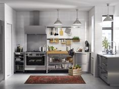 IKEA SEKTION kitchens can be completely customized, with thousands of combinations to choose from. And for do-it-yourselfers, IKEA kitchens are designed for easy setup. Stainless Kitchen, Kitchen Inspirations, Metal Kitchen, Kitchen Trends, Metal Kitchen Cabinets, Kitchen Remodel, Modern Kitchen, Kitchen Renovation Cost, Home Kitchens