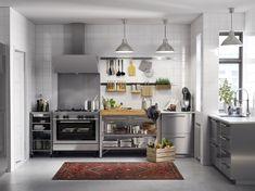 METOD / GREVSTA keuken | IKEA IKEAnl IKEAnederland inspiratie wooninspiratie interieur wooninterieur koken eten diner kast kasten keukenkast keukenkasten opberger opbergen grijs rvs roestvrijstaal