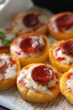 Pepperoni Polenta Pizza Bites