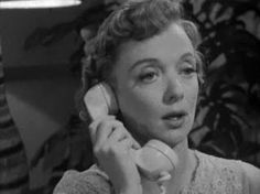 Barbara Baxley on the phone