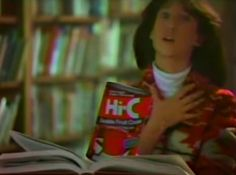 Hi-C fruit drinks commercial ~ screengrab from a June 7, 1986 NBC broadcast