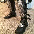 [Self][WIP]Boots for my fem. Goose (Mad Max) that I finished last night.