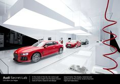 Brief from the clientCreate an attention-getting tradeshow booth for AUDI AG's brand appearance at the Consumer Electronics Show 2014 in Las Vegas. Ces Las Vegas, Lab, Bmw Design, Red Dot Design, Salon Design, Trade Show, Retail Design, Design Awards, Audi