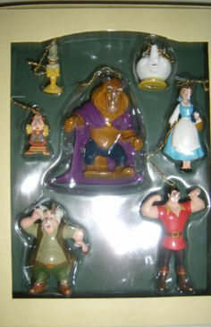 Disney Storybook Christmas Ornaments Beauty and the Beast Set Belle