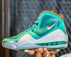 Nike Air Penny 5 Miami Dolphins Sneaker (Release Info + New Photos)