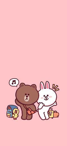Hello Kitty Wallpaper, Bear Wallpaper, Kawaii Wallpaper, Galaxy Wallpaper, Pink Wallpaper, Line Brown Bear, Vaporwave Wallpaper, Friends Wallpaper, Cute Love Gif