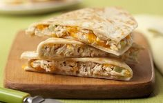 color: The classic tuna melt gets a delicious makeover! Charlie's® Tuna Melt Quesadilla recipe is still everything you'd want from this savory, comforting classic. Hooray for delectable, cheesy finger foods! Canned Tuna Recipes, Cooking Recipes, Healthy Recipes, Bariatric Recipes, Yummy Recipes, Healthy Food, Recipies, Healthy Options, Easy Cooking