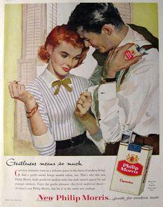 1956 Philip Morris Cigarettes Ad ~ Gentleness
