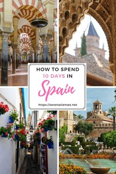 Spain is an amazing country to visit. This 10 day Spain itinerary will show you how to see the best cities of Spain in 10 days. Spain was the first country in Europe I visited when I was right out of college. Spain Travel Guide, Europe Travel Tips, Travel Advice, Travel Destinations, Travel Guides, European Destination, European Travel, Voyage Europe, Spain And Portugal
