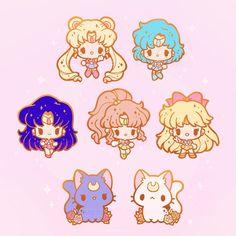 Cute Kawaii Drawings, Kawaii Art, Arte Sailor Moon, Sailor Venus, Sailor Mars, Fotos Do Pokemon, Sailor Saturno, Sailer Moon, Sailor Moon Wallpaper