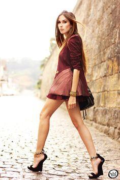 crimson Charry blazer - black Choies heels - white aluska t-shirt