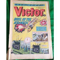 Victor #667 Comic UK December 1973 Football Sport Action Adventure