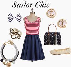 Ms. Vintage & Ms. Sale: Styl marynarski