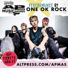 We're playing the 2017 Journeys Alternative Press APMAS fueled by Monster Energy Gaming July 17th in Cleveland! Get tickets now. ONE OK ROCK, April 2017