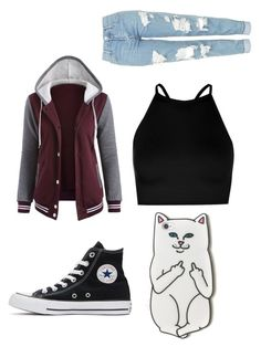 """""""Untitled #12"""" by gabby200000006 on Polyvore featuring Boohoo, Topshop, RIPNDIP and Converse"""