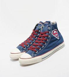 "Converse x DC Comics: Chuck Taylor All Star ""Superman"" cc Converse Chuck Taylor All Star, Chuck Taylor Sneakers, All Star Superman, Dc Comics, Estilo Geek, Converse Shoes, High Top Sneakers, Footwear, Shoe Bag"