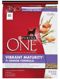 Purina ONE SmartBlend Vibrant Maturity Senior Formula Dry Dog Food Dog Ages, Bone Health, Printable Coupons, Cat Food, Meals For One, Vulnerability, Immune System, Life Is Good, Vitamins