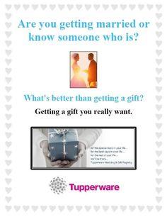 Tupperware Wedding Gifts