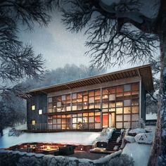CGarchitect - Professional 3D Architectural Visualization User Community | The Making Of Snowy Night