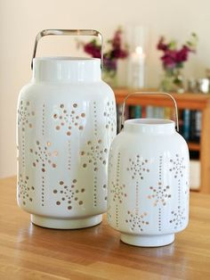ceramic hurricane lanterns from Nordic House. I love all hurricanes.