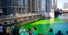 Dia de São Patrício em Chicago #viagem #ny #nyc #ny #novayork