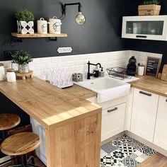 Kitchen Interior, Home Decor Kitchen, Kitchen Design Small, Kitchen Remodel, Kitchen Decor, Home Improvement Loans, Budget Home Decorating, Home Kitchens, Kitchen Design