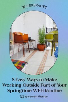 Sometimes a change of scenery is just what you need to be more productive or creative, so follow these simple tips to work from your patio, terrace, local park, and more. Better Weather, New Environment, Local Parks, Desk Set, Breakfast In Bed, Workspaces, Inspiration Quotes, Outdoor Seating, Apartment Therapy
