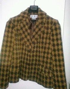 Women's+Rena+Rowan+Two+Toned+Brown+jacket+size+12