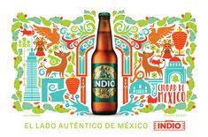 Carteleras Cerveza Indio - México Unido on Behance