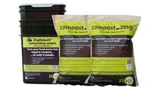 Bokashi kit: 1 x 10 litre buckets and 2 bags of compostzing