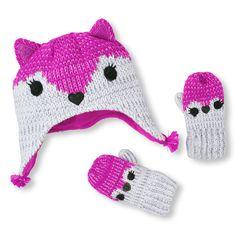 Knit Dog Hat   Mitten Set  c33026d9fe58